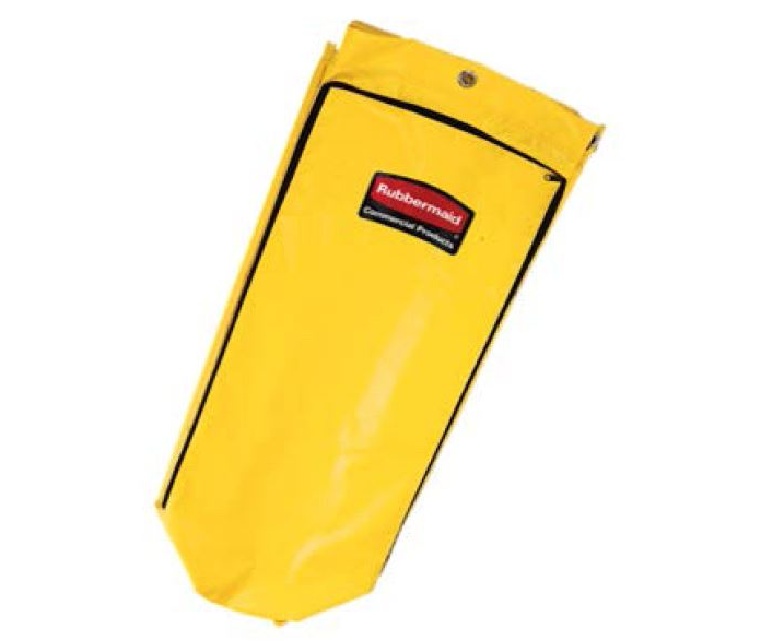 24 Gal Janitorial Cleaning Cart Vinyl Bag - Traditional, Yellow