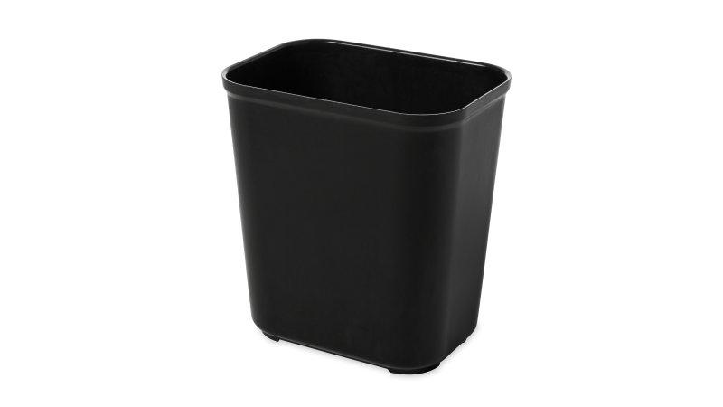 Fire Resistant Wastebasket 14 Qt Black