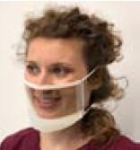 Face Mask Clear EZ Adjust 18/Box (24 per case)