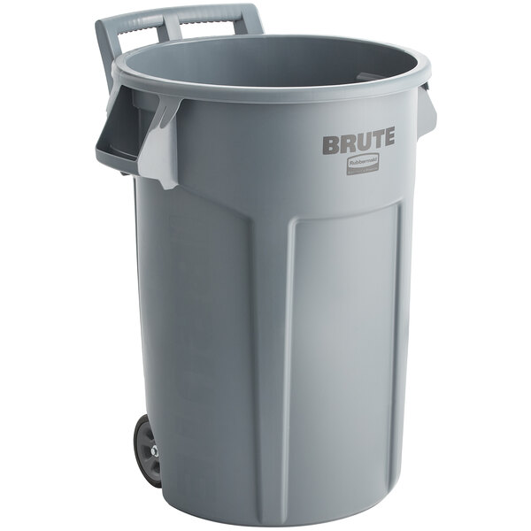 Wheeled Brute Container 44Gal Gray 4/CS