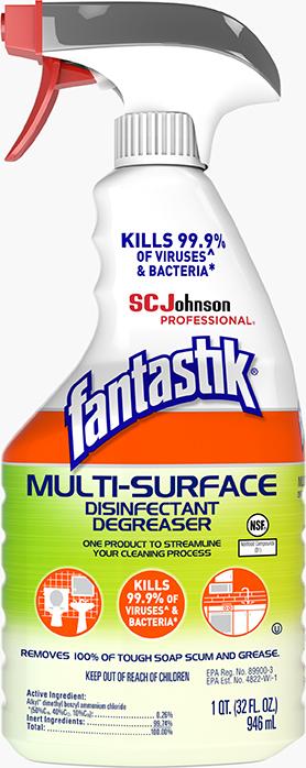Fantastik Multi Surface Disinfectant Degreaser 32oz