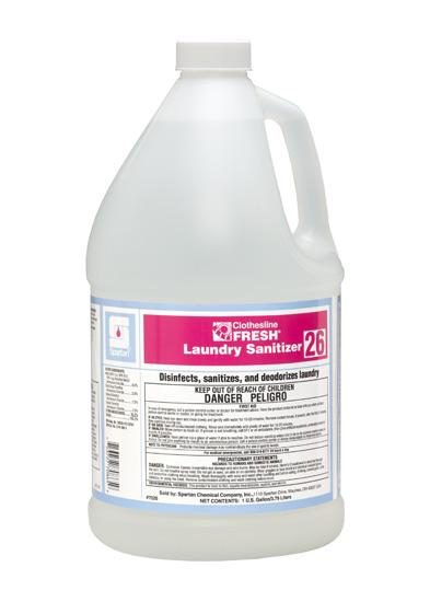 Clothesline Fresh 26 Laundry Sanitizer 1 Gallon (4/Case)