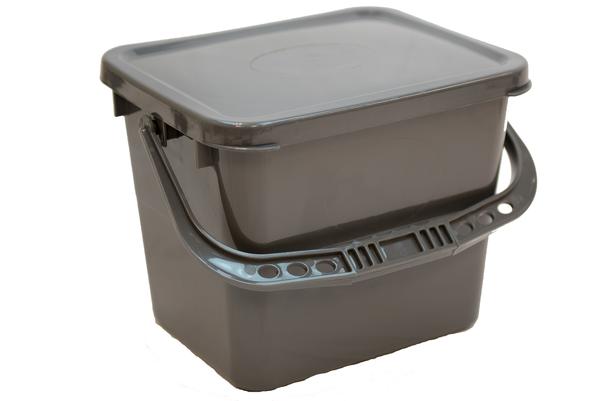 Charging Bucket Grey 3.5 Gallon