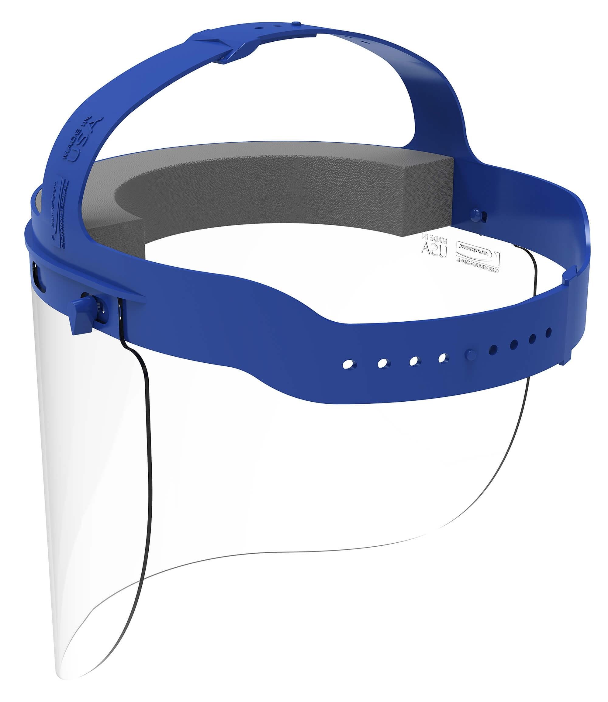 Face Shield Full Length Adjustable Headband Blue (16 per case)