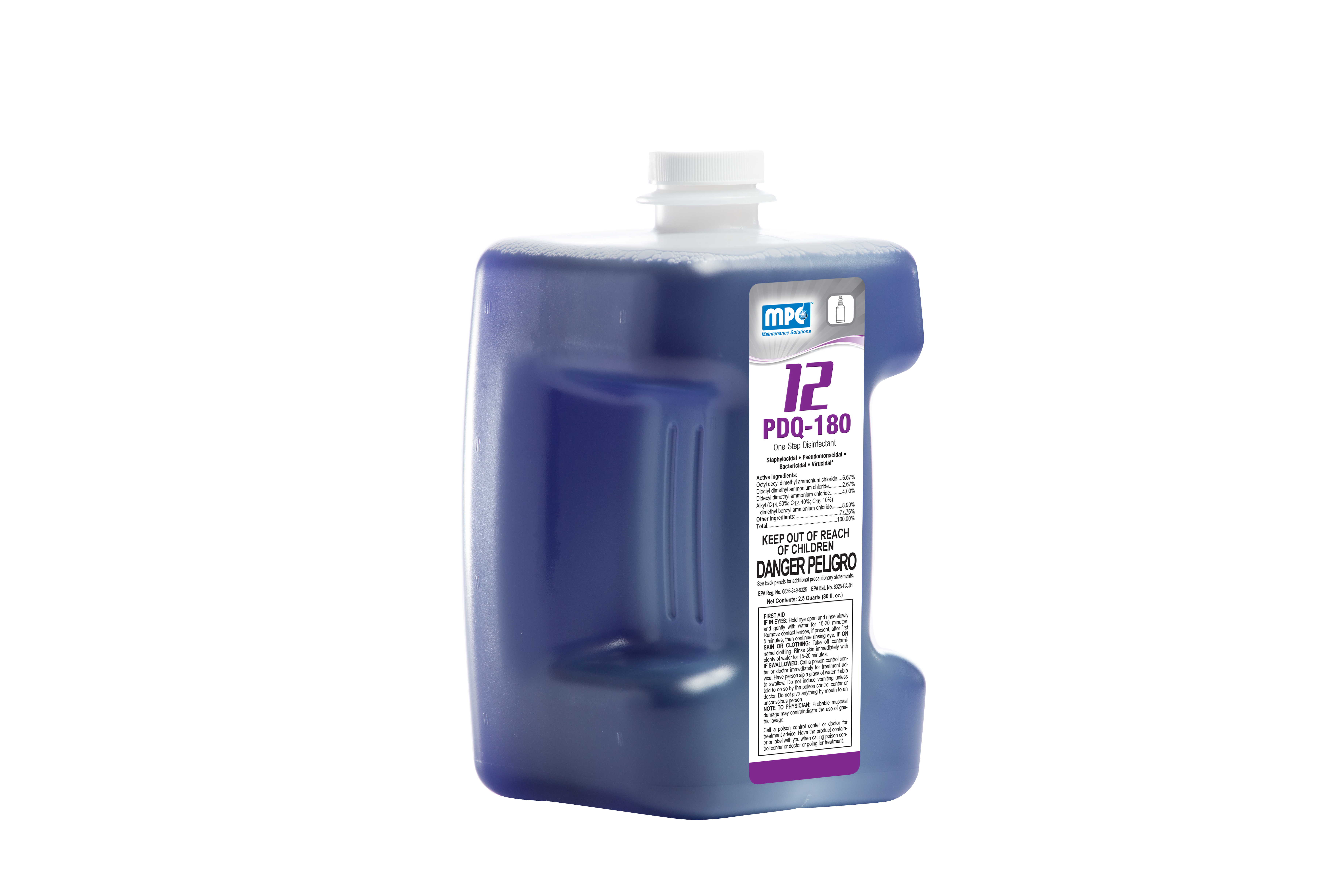 #12 PDQ 180 One Step Disinfectant 80oz
